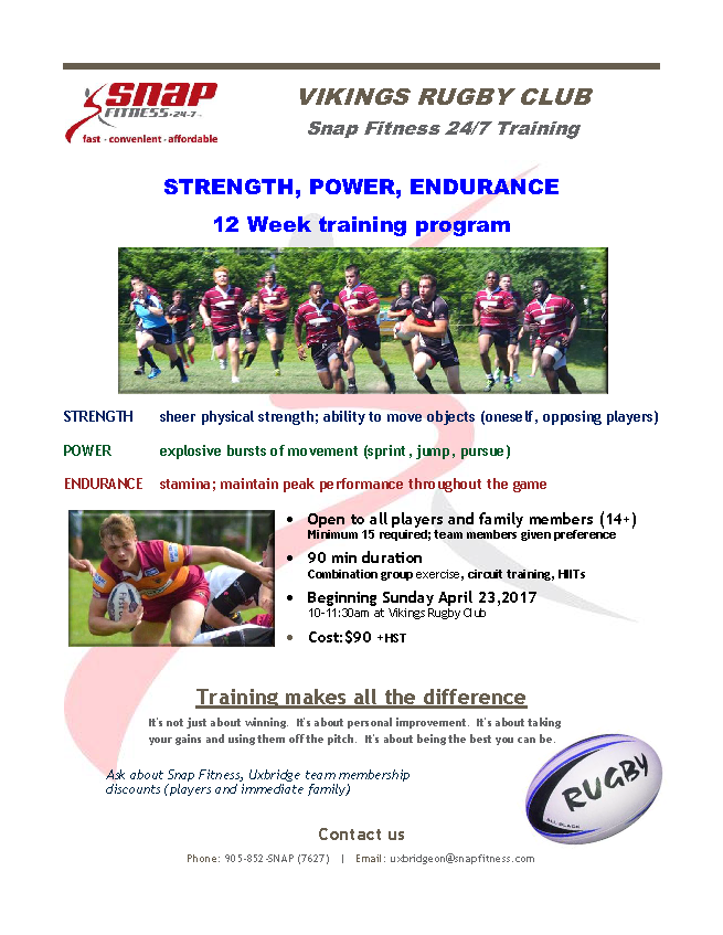EXCLUSIVE Vikings Rugby 12 Weeks Fitness Program