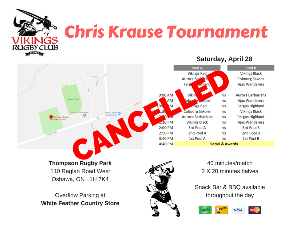 2018 Chris Krause Tournament CANCELLED
